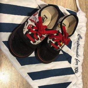 Vans Custom Mickey Mouse Big Boy Shoes 6